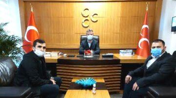 Berkay ve Uzun'dan MHP İl Başkan Akar'a ziyaret