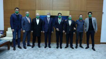 Sakaryaspor Başkan Adayı Uğur AKKUŞ, Sakarya Büyükşehir Belediye Başkanı Ekrem YÜCE'yi ziyaret etti…