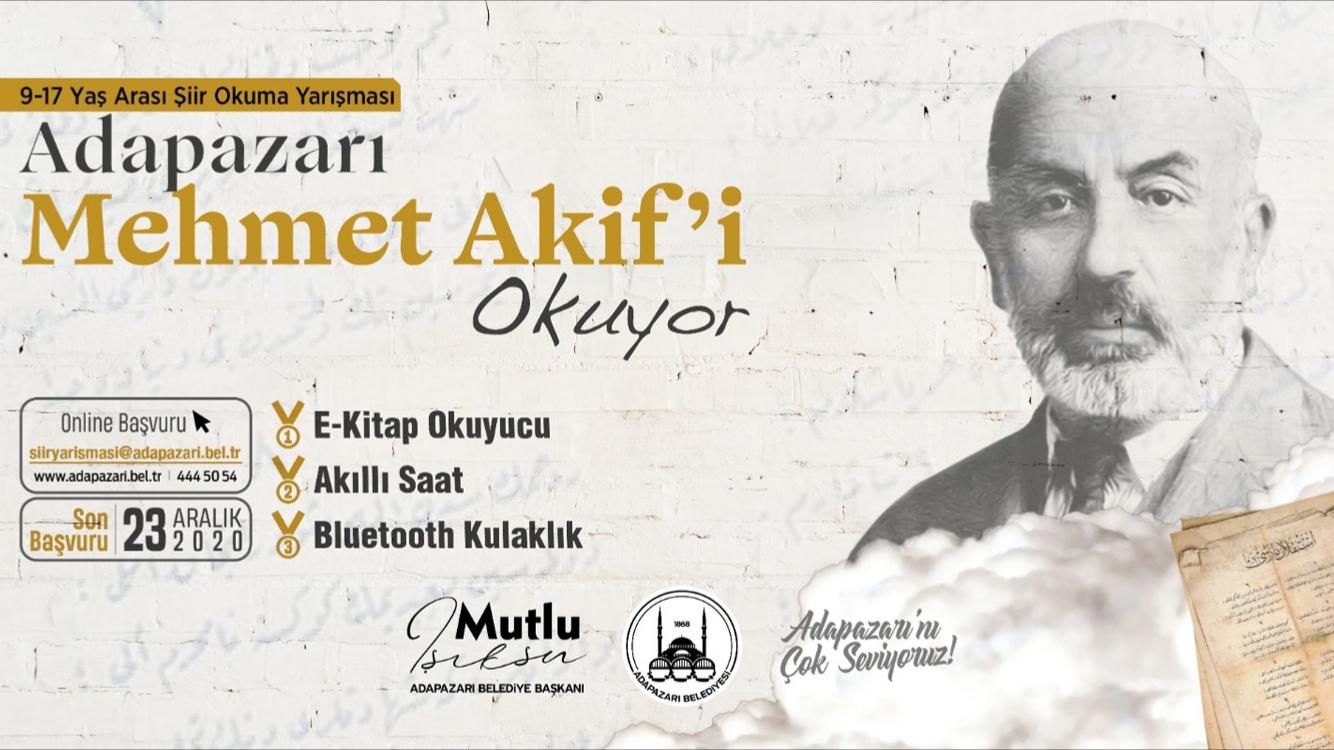 'Adapazarı Mehmet Akif'i Okuyor' Mehmet Akif şiirlerini en güzel okuyana ödül