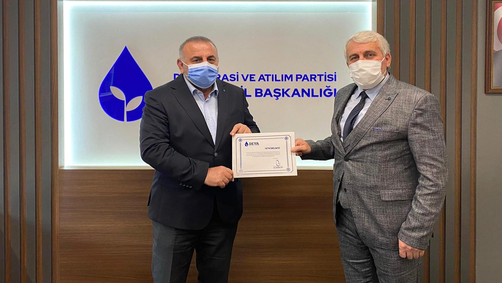 Erkan Çoruhlu, Deva Partisi Akyazı İlçe Başkanı oldu