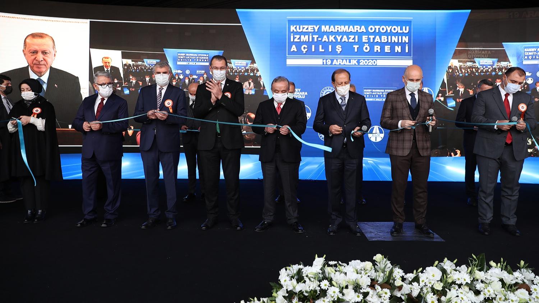 """Açılışı Cumhurbaşkanı Erdoğan gerçekleştirdi: """"Kuzey Marmara Otoyolu ülkemize ve milletimize hayırlı olsun"""""""
