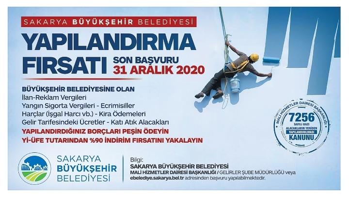 Sakarya Büyükşehir'de taksitlendirme için son 3 gün