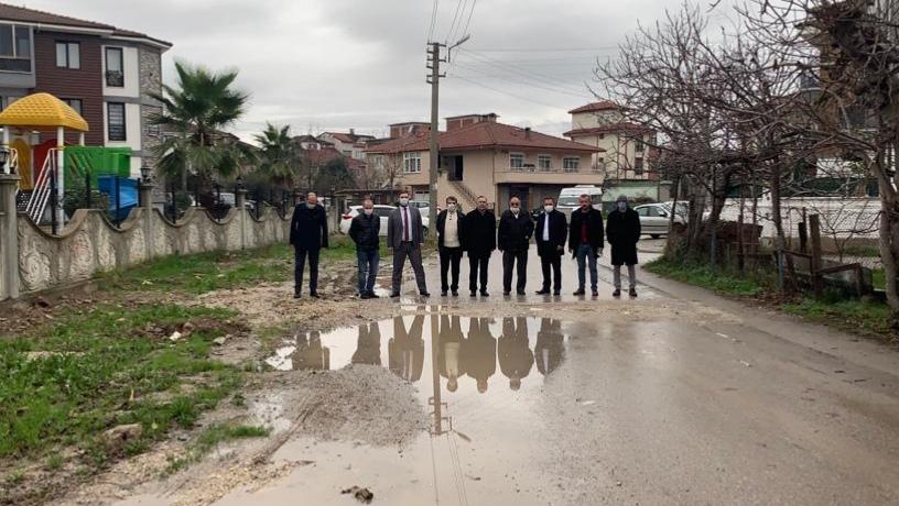 İYİ Parti; Yağcılar Mahallesi'nde incelemelerde bulundu