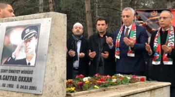 """BABAOĞLU: """"Şehidimiz, Ali Gaffar Okkan'ı anıyoruz"""""""