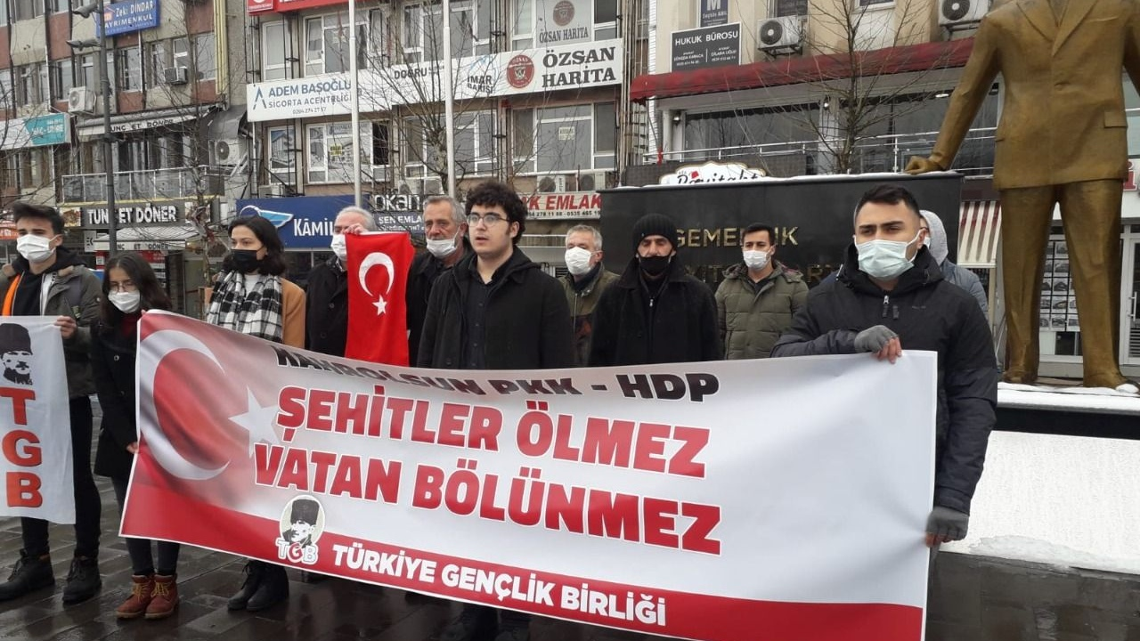 """TGB: """"Kahrolsun HDP, Kahrolsun PKK"""""""