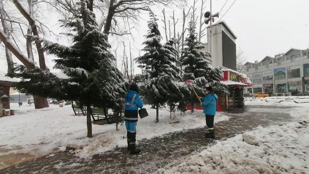 Hendek'te karla mücadelede sıfır sorun