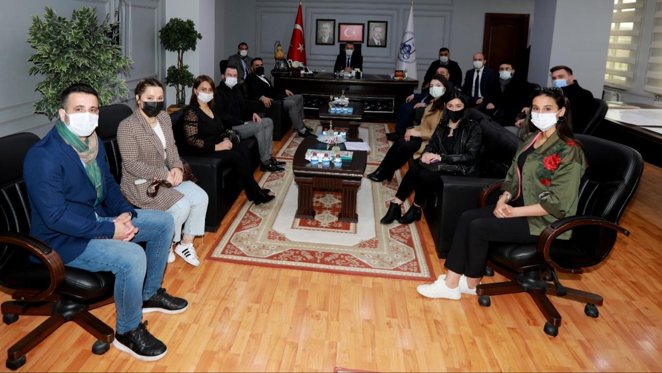 Azman ve Ekibi; başkanları ziyaret etti
