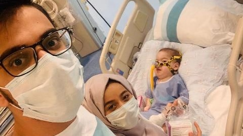 Hamza bebek, ilacına kavuştu