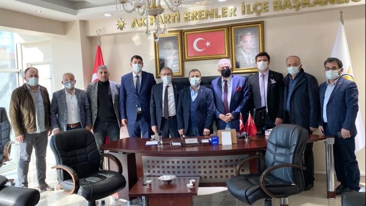 ASKF'den yeni seçilen AK Parti İl ve Erenler ilçe başkanlarına ziyaret