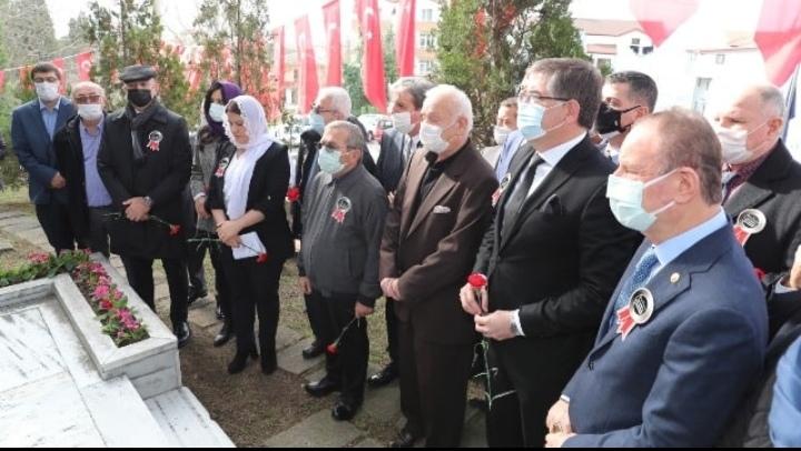 Efsane Başkan Leyla Atakan ve arkadaşları; mezarı başında anıldı