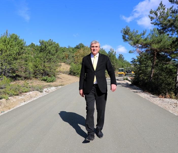 Şehrin kuzeyinde 46 kilometre beton yol yapılacak