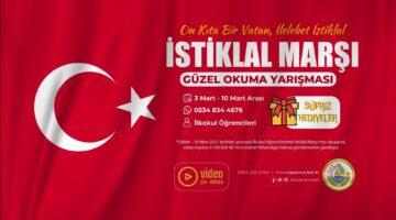 Sapanca Belediyesi'nden İstiklal Marşı Okuma Yarışması