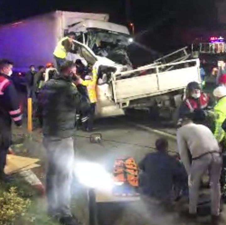 Karaçam'da büyük kaza, 1 ölü 2 ağır yaralı var!…