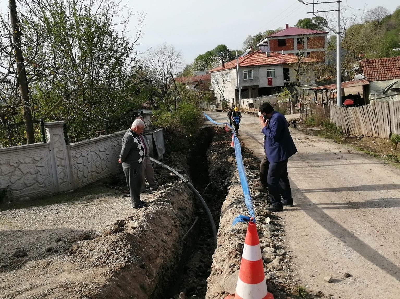 Büyükşehir Bakırlı Mahallesi'nde içmesuyu hattını yenileniyor