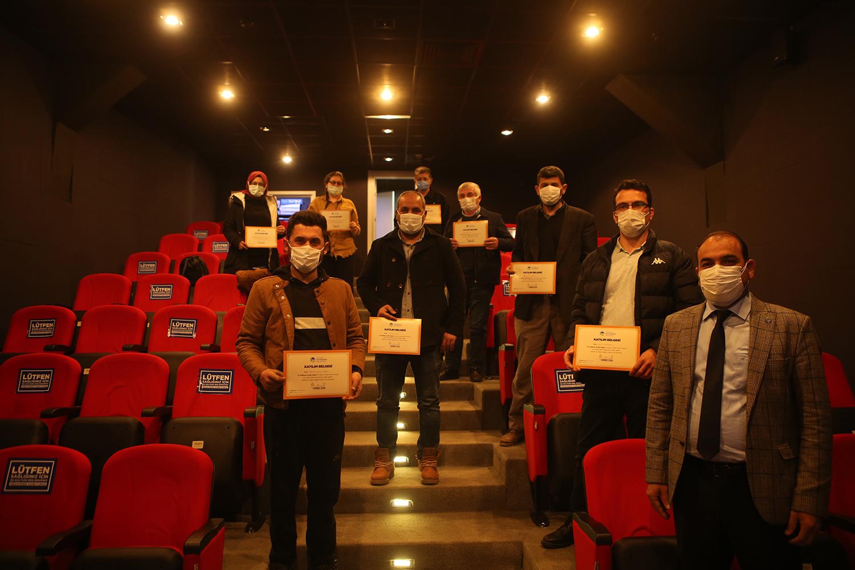 54 Katılımlı Arıcılık projesinde üreticiler sertifikalarını aldı