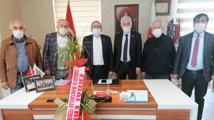Muhtarlar Federasyonu'ndan ASKF'ye ziyaret etti