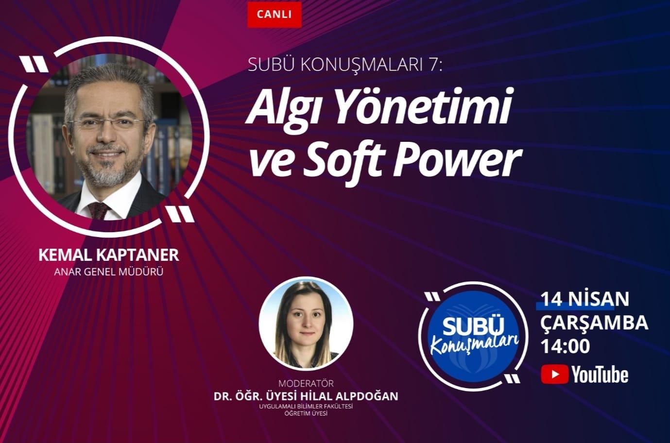 ANAR Genel Müdürü Kaptaner algı yönetimini anlatacak