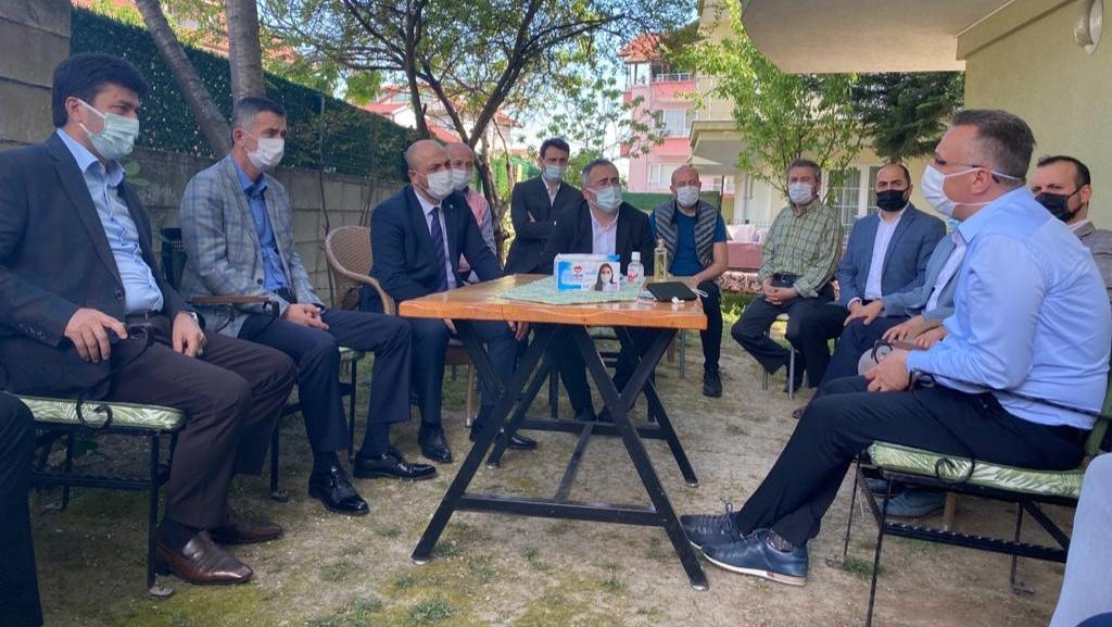 DİKBAYIR ve KILIÇASLAN; Başkan IŞIKSU ve SOYKAN'a taziye ziyaretinde bulundu