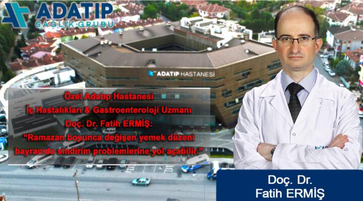 Uzman Dr. Ermiş'ten Ramazan Bayramı'nda beslenme önerileri
