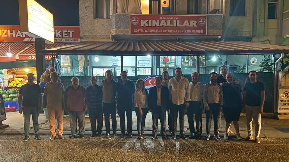 Başkan Keleş'ten Kınalılar Derneği'ne ziyaret
