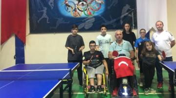 Pandemi sonrası ilk Bedensel Engelli Masa Tenisi sporcuları Ankara yolcusu