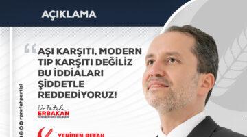 Fatih Erbakan: Aşı Karşıtı Değiliz