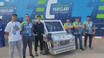 TEKNOFEST Effıcıency Challenge Elektrikli Araç Yarışması'nda ilimizi temsil edecekler