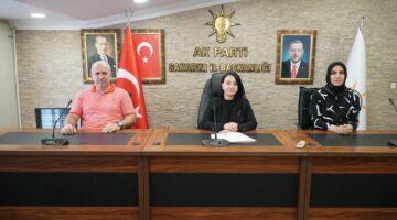 AK Parti Sakarya İl Başkanlığı Basın Açıklaması Yaptı
