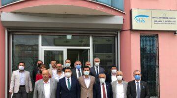 DEVA Partisi'nden Türk-İş ziyareti.