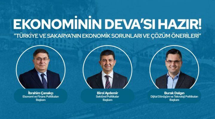DEVA Partisi 3 Genel Başkan Yardımcısı ile Sakarya'ya çıkarma yapıyor